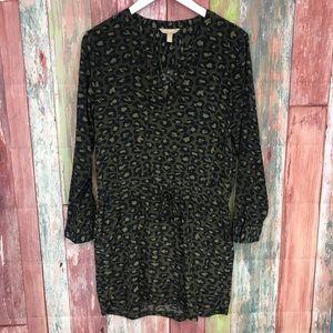 Banana Republic leopard long sleeve Dress